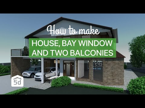 House Bay Window And Two Balconies By Planner 5d