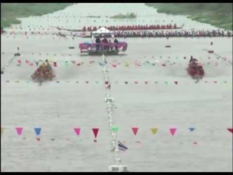 แข่งเรือยาวประเพณี อ.บ้านหมี่ จ.ลพบุรี 2557 แข่งเรือบ้านหมี่
