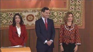 Moreno Bonilla comparece para presentar el nuevo Gobierno andaluz, en directo