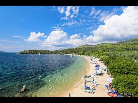 Agia Kiriaki beach near Neos Marmaras on Sithonia, Greece