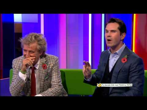 Rod Stewart & Jimmy Carr Dwarf joke Interview