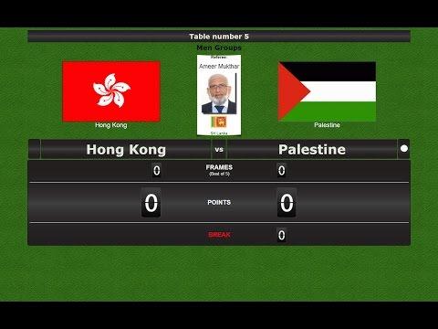 Snooker Team Men Groups : Hong Kong vs Palestine