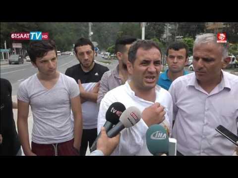 Maçka'da vatandaş saldırı anını anlattı