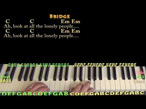Eleanor Rigby (Beatles) Piano Cover Lesson with Chords/Lyrics