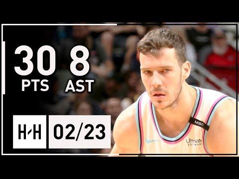 Goran Dragic Full Highlights Heat vs Pelicans (2018.02.23) - 30 Points, 9 Reb, 8 Assists!