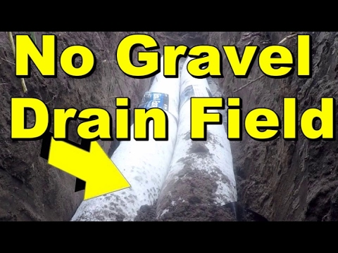 No Gravel Drain Field, DIY for Washer or Septic