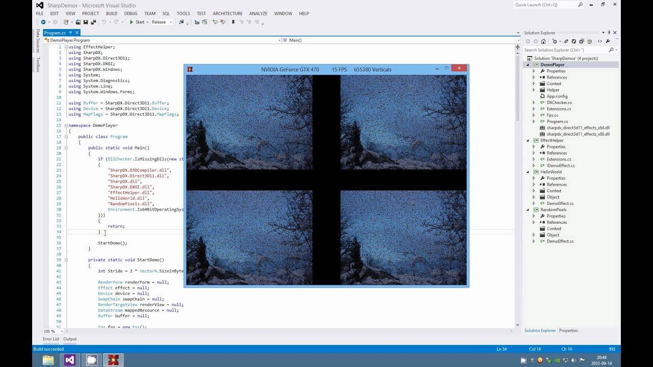 SharpDX demos (C# SharpDX DirectX 11)