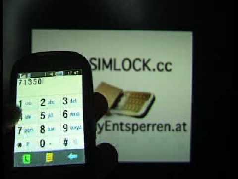 Unlock S3650 Corby Samsung Corby GT-S3650 by Unlockcode Phone Freeze www.SIM-UNLOCK.me