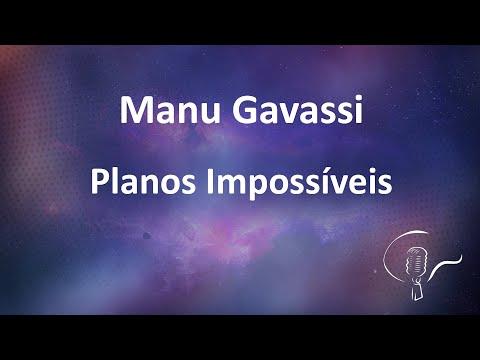 Manu Gavassi - Planos Impossíveis (Karaoke)
