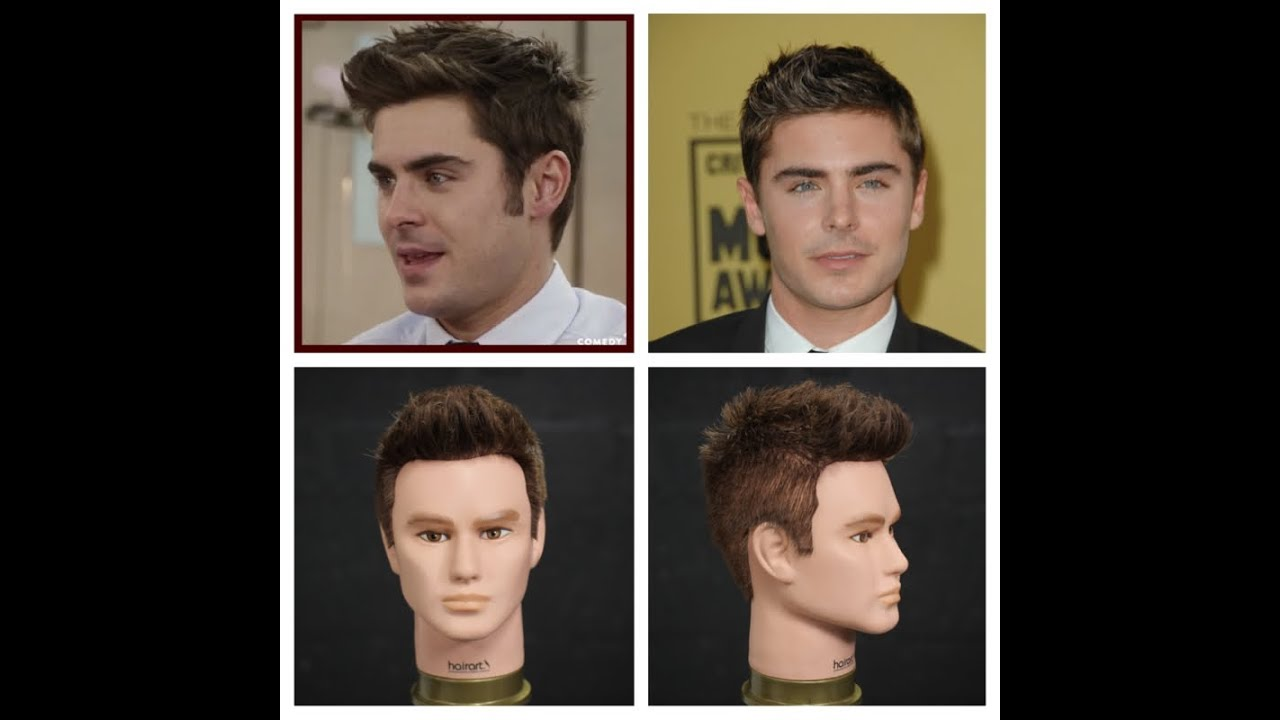 Zac Efron Haircut Hairstyle Tutorial Youtube