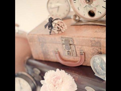 Shabby chic vintage romantic : Valises, boîtes, caisses