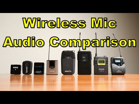 8 Wireless Mic Systems from $30 to $600, Audio Quality Comparison