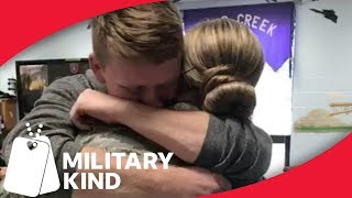 Brother jumps to welcome Airman sister home