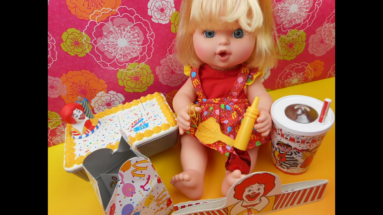 Mcdonalds Happy Birthday Baby Doll Play Set Video Review Youtube