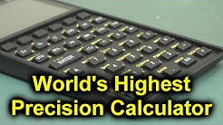EEVblog #1159 - World's Most Precise Pocket Calculator