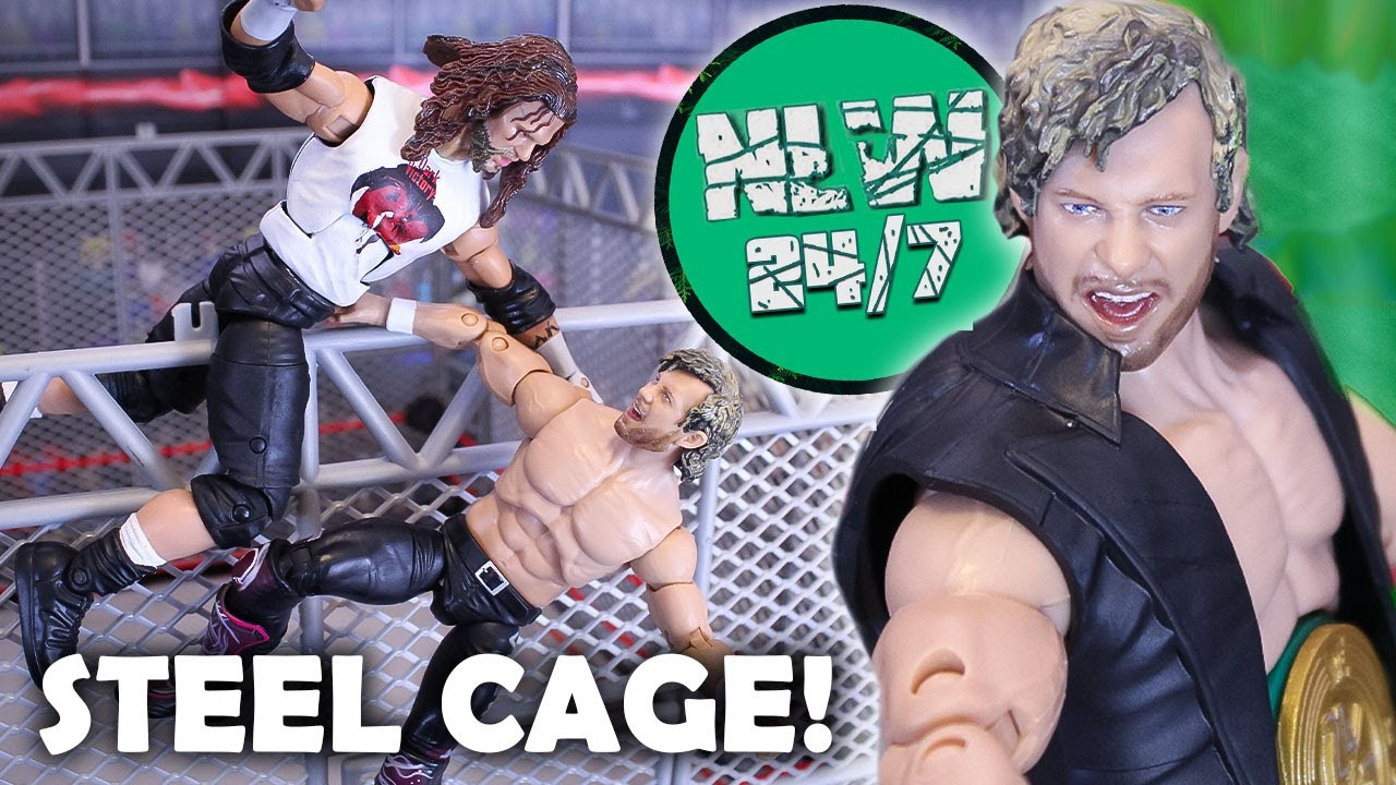 STEEL CAGE Match! Omega vs Raven! NLW 24/7 (WWE Figure Pic Fed)