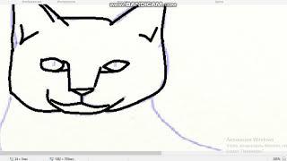 рисую заготовку кота