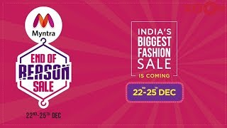 Best Deals at End of Reason Sale on Myntra from 22nd to 25th december
