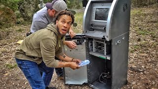 We shot an ATM and found $50,000 inside!!!!!