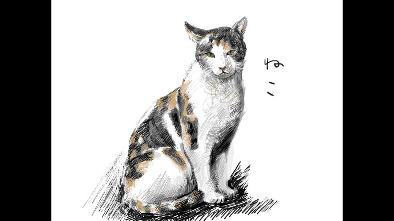 猫の可愛い無料イラスト集 おしゃれなシルエットから描き方まで