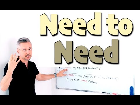 How to use NEED TO & NEED (GREAT Explanation - Good for Exams)