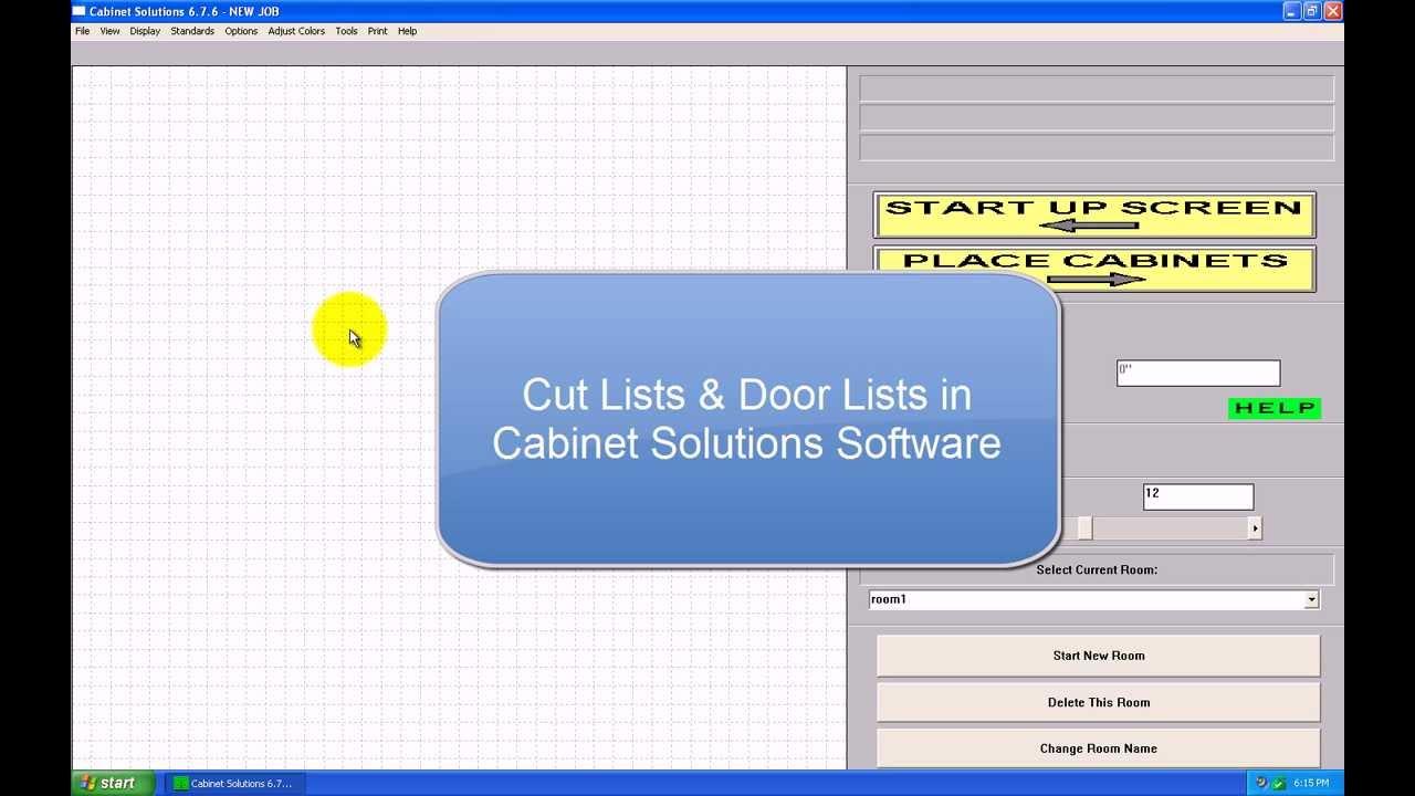 Cut List U0026 Door Lists In Cabinet Solutions Software   YouTube