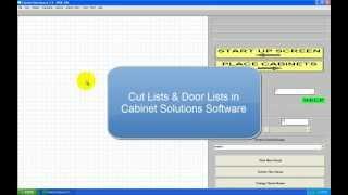Cut List & Door Lists in Cabinet Solutions Software