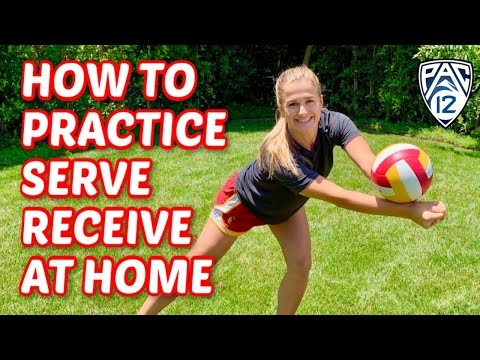 At Home Serve Receive Volleyball Drill | USC Libero Victoria Garrick