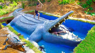 How To Build Underġround Swimming Pool Water Slide Crocodile Around Secret Underground House