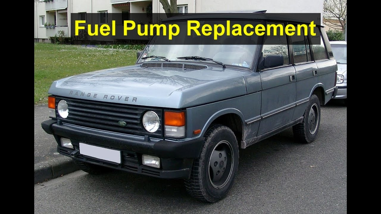 fuel pump removal and installation on a land range rover votd youtube. Black Bedroom Furniture Sets. Home Design Ideas