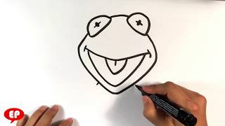 How to Draw Kermit the Frog - Easy Pictures to Draw