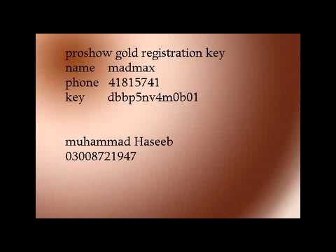 registration key proshow gold
