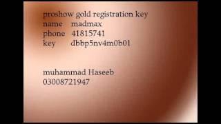 proshow gold registration key by haseeb.flv