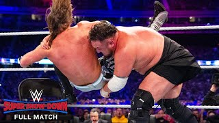 FULL MATCH - AJ Styles vs. Samoa Joe - WWE Title Match: WWE Super Show-Down 2018