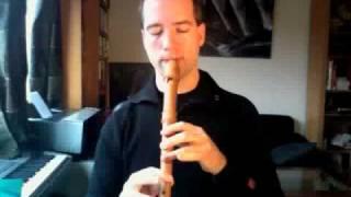 """""""Blålokk"""" from """"Jul i Blåfjell"""" on the Mollenhauer Modern alto recorder"""