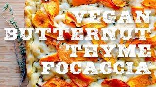 Butternut Thyme Focaccia Bread Recipe Testing (Vegan Thanksgiving Side Dish)