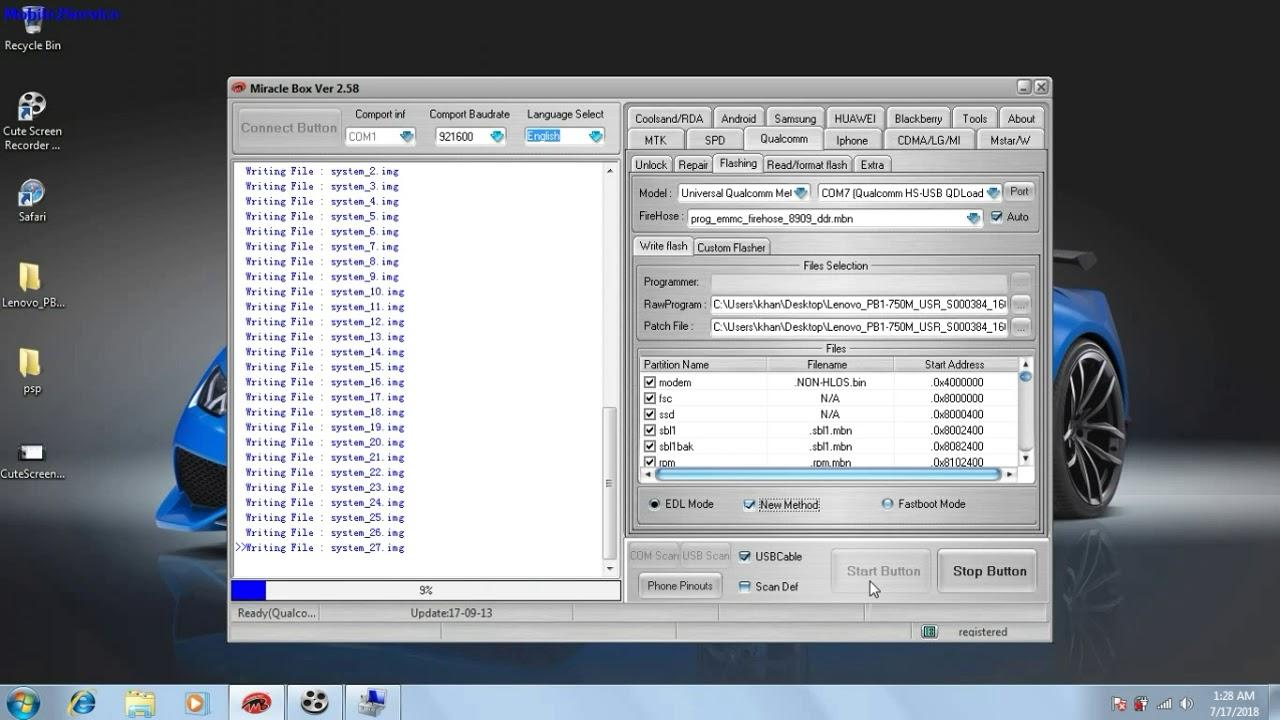 Lenovo phablet pb1-750m full flash firmware link download below description