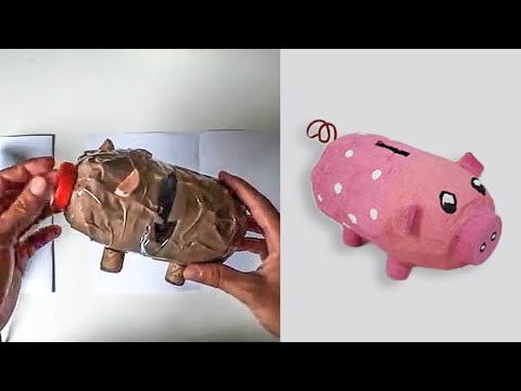 Bricolage tirelire cochon youtube - Activite manuelle decoration ...