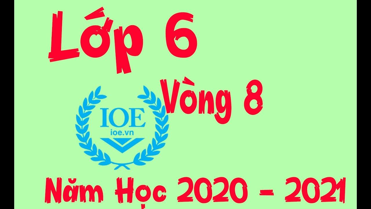 Đáp Án IOE Lớp 6 Vòng 8 Năm Học 2020 – 2021