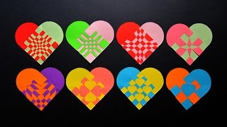 Paper heart tutorial - make woven hearts for gifts, bookmarks and decor - EzyCraft