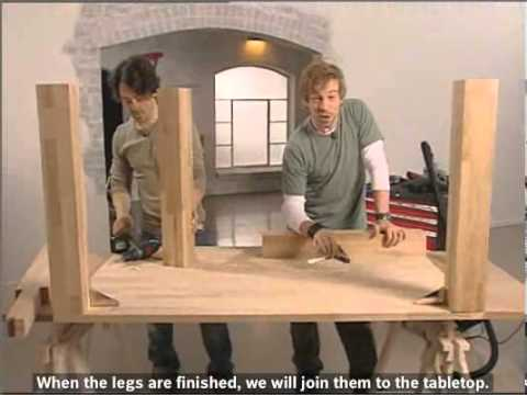 How To Build A Classic Oak Dining Table Youtube
