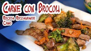 Carne con Brocoli Receta Restaurante Chino