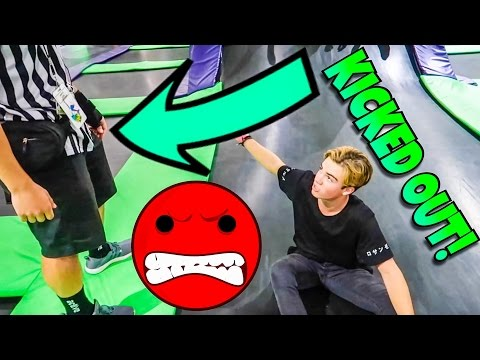 KICKED OUT OF A TRAMPOLINE PARK!!!
