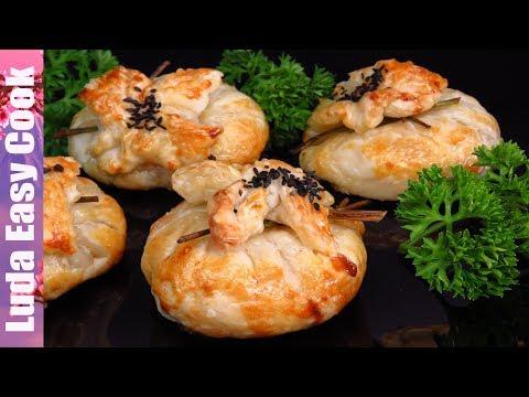 ЖЮЛЬЕН с курицей и грибами В МЕШОЧКАХ из СЛОЕНОГО ТЕСТА Французская Кухня ЗАКУСКИ на НОВЫЙ ГОД 2020