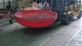 HOT Forming Press, Tank Head, Dish Head, Vessel, CIM Tech     www.cim21c.com