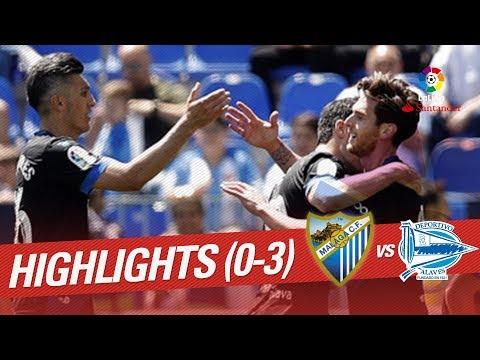 Resumen de Málaga CF vs Deportivo Alavés (0-3)