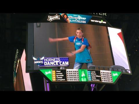 Download Youtube: BACKPACK KID ON HORNETS DANCE CAM!