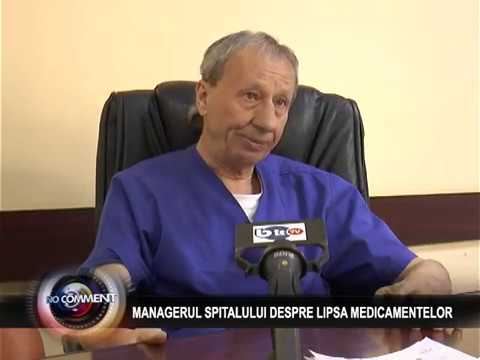 MANAGERUL SPITALULUI DESPRE LIPSA MEDICAMENTELOR
