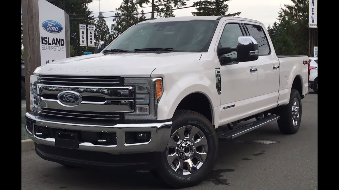 2018 Ford Super Duty >> 2017 Ford Super Duty F-350 SRW Lariat Chrome SuperCrew W/LED Headlights Review - YouTube
