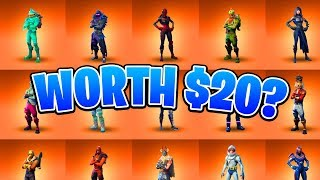Are These Skins REALLY Worth $20 - Fortnite Legendary Skins Ranked!